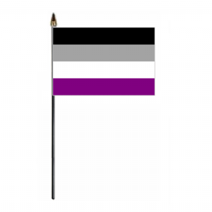 Asexual Pride Hand Flag - Small